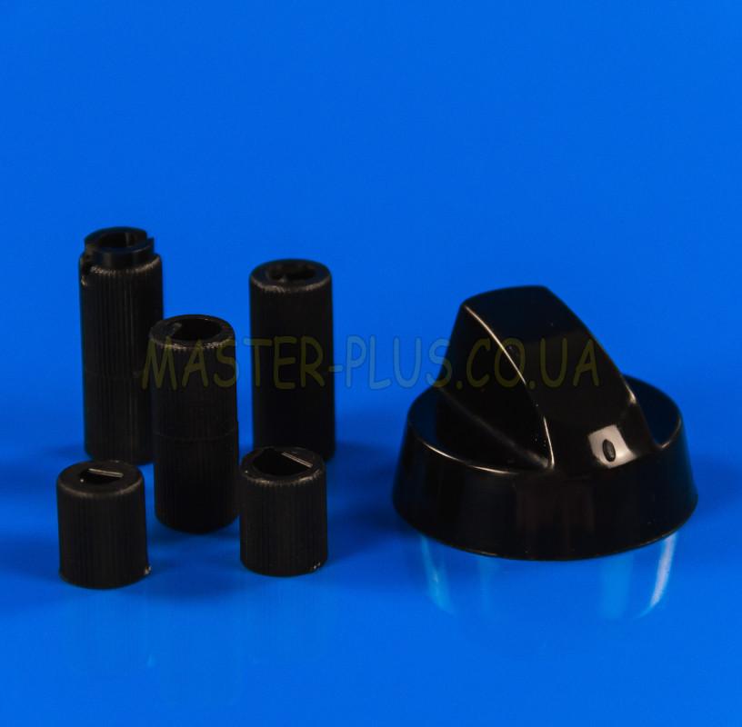 Черная универсальная ручка для плиты + 5 переходников