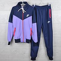 """Спортивный костюм подростковый """"Nike реплика"""" 7-12 лет. Темно-синий+сиреневый. Оптом"""