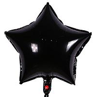 Шар звезда фольгированная, ЧЕРНАЯ - 45 см (18 дюймов)