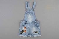 Комбинезон джинсовый для девочки 2-5 лет