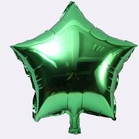 Шар звезда фольгированная, ЗЕЛЕНАЯ - 45 см (18 дюймов)