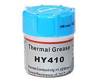Термопаста 15.0g Halnziye HY-410, колба, белая, >0,925W/m-K, <0.262°C-in?/W, -30°?280°, Вязкость -1K cPs, OEM Q40