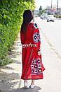 Платье лен вышитое, этно стиль бохо шик, вишите плаття вишиванка, Bohemian,стиль Вита Кин, фото 4