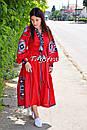 Платье лен вышитое, этно стиль бохо шик, вишите плаття вишиванка, Bohemian,стиль Вита Кин, фото 2