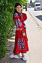 Платье лен вышитое, этно стиль бохо шик, вишите плаття вишиванка, Bohemian,стиль Вита Кин, фото 3
