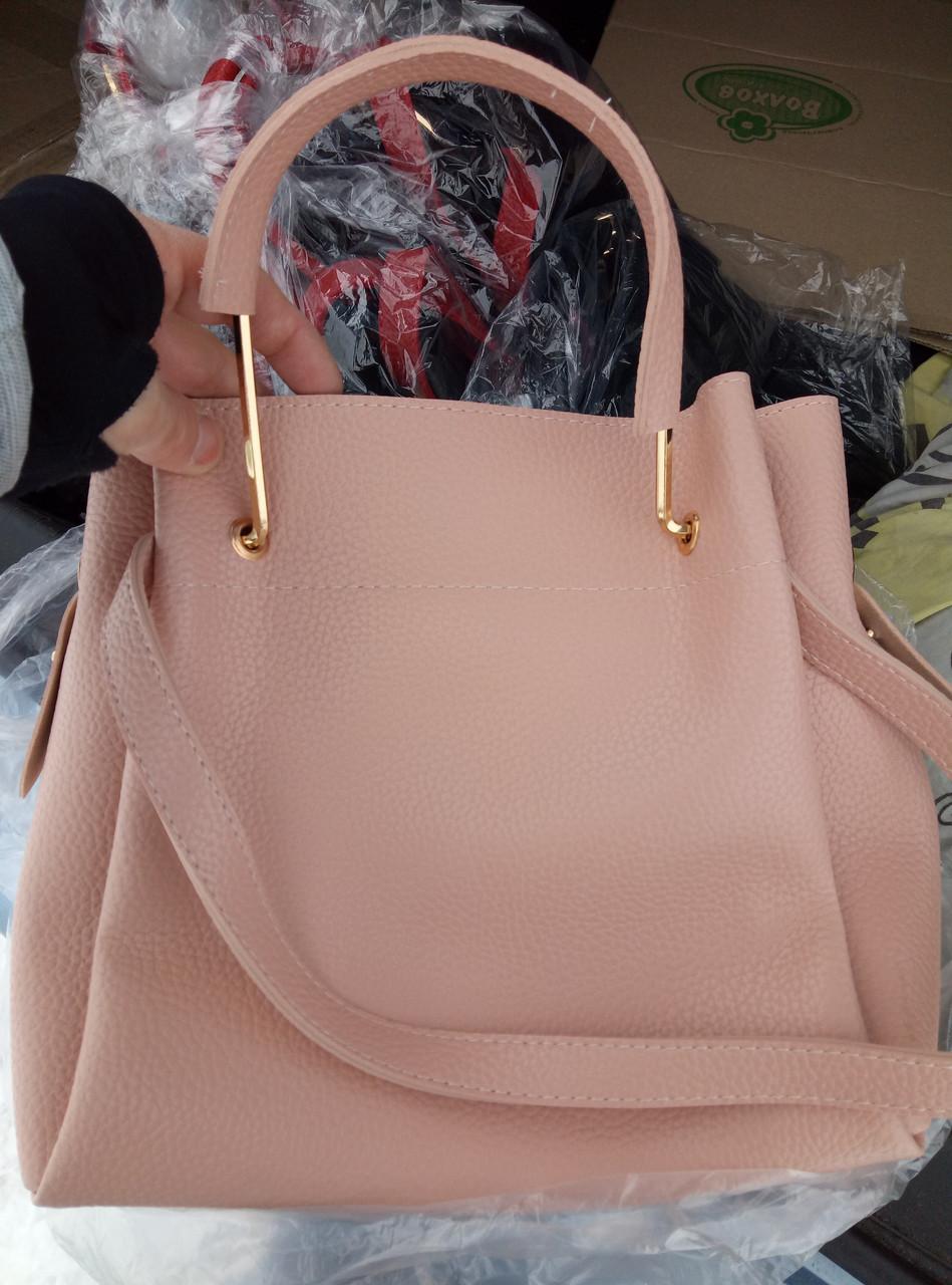 ... Женская mini сумка-шоппер Michael Kors цвет пудра, розовая (Майкл Корс)  с ... 9580f0c83bb