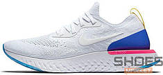 "Мужские кроссовки Nike Epic React Flyknit ""White & Racer Blue"""
