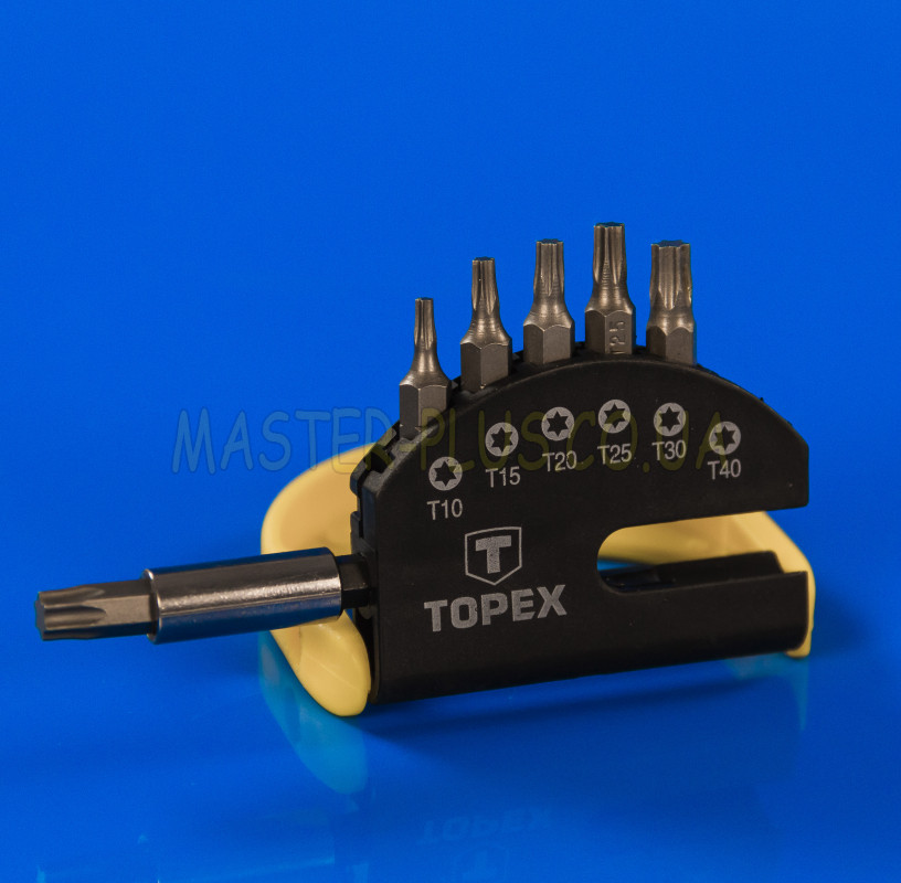Набор звездообразных бит Torx (7 шт) с держателем TOPEX 39D351