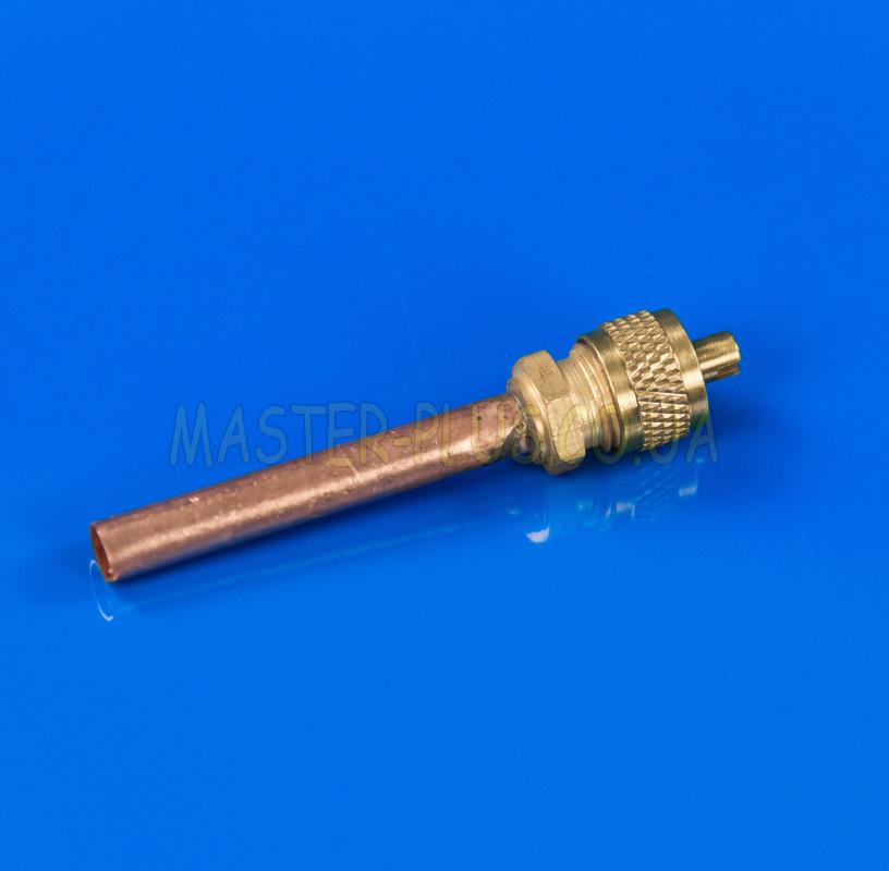 """Муфта для заправки """"клапан Шредера"""" ⌀6мм, под пайку (40мм)"""