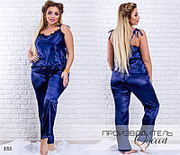 Комплект домашний майка+штаны атлас-шелк 42-44,44-46