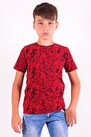 Футболка для мальчика красная от 6 до 10 лет (116;122;128;134;140)