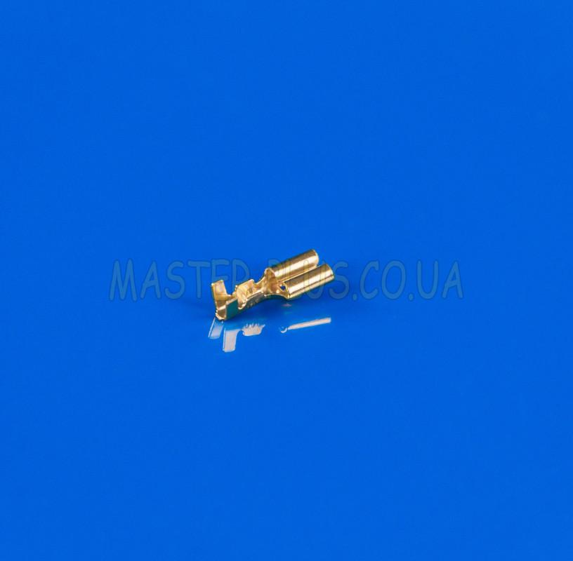 Клемма плоская (мама), под кабель, гнездо 4.8mm, без изоляции