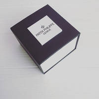 Подарочная упаковка - коробка для часов,  Patek Philippe Geneve (Патек Филипп), чёрно-белая