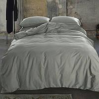 Полуторное (простынь на резинке) постельное белье - Сатин однотонный, Light grey, №251