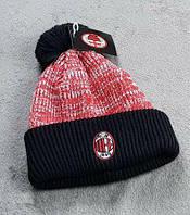 Футбольная шапка Милан красный