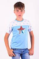 """Футболка  для мальчика """"Star"""" голубая"""