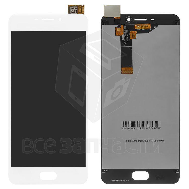 Дисплейный модуль для мобильного телефона Meizu M6, белый  Original (P