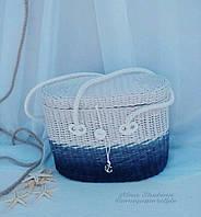 Сумка плетеная женская, фото 1