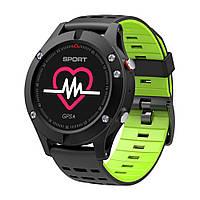 """Умные часы SUNROZ F5 спортивные смарт-часы с GPS 0,95"""""""" 350mAh Черно-Зеленый (SUN0914)"""