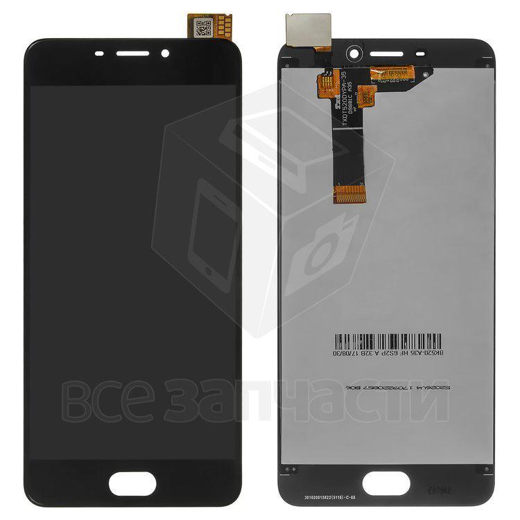 Дисплейный модуль для мобильного телефона Meizu M6, черный Original (P