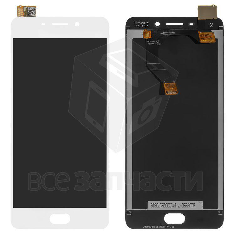 Дисплейный модуль для мобильного телефона Meizu M6 Note, белый Origina