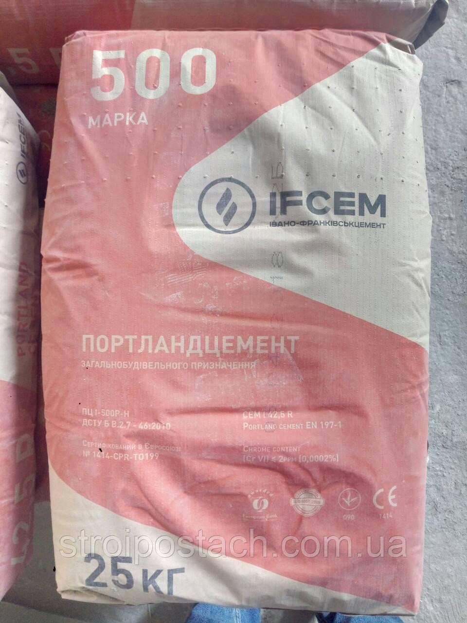 Цемент М 500 Д0 (заводская фасовка)