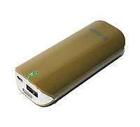 Повербанк 5200 mAh, PowerPlant, Brown (PPLA9005), power bank, портативное зарядное устройство