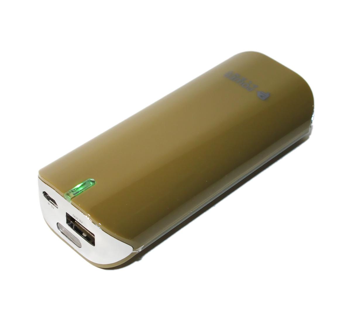 Повербанк 5200 mAh, PowerPlant, Brown (PPLA9005), power bank, портатив