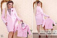 Пальто женское с воротом прямое на одной пуговице шерсть 48-50,52-54