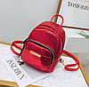 Рюкзак для прогулок красный маленький металлизированный, фото 2