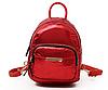 Рюкзак для прогулок красный маленький металлизированный, фото 3
