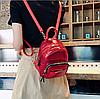 Рюкзак для прогулок красный маленький металлизированный, фото 4