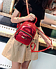 Рюкзак для прогулок красный маленький металлизированный, фото 5