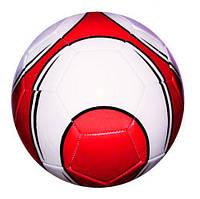 Мяч футбольный (бело-красный) BT-FB-0189