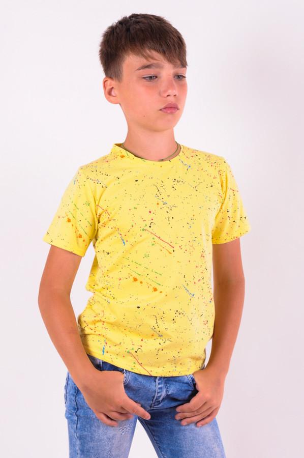 Футболка  для мальчика желтая от 6 до 9 (116;122;128;134)