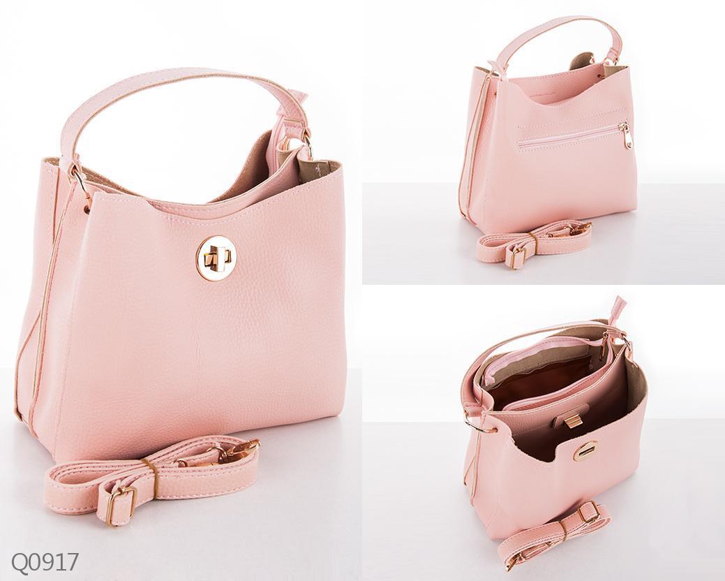 e3563965e58a Повседневная стильная женская сумка на плечо с длинным ремешком розовая