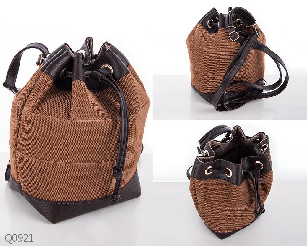 68f02dc2037c Женский городской рюкзак-мешок коричневый, цена 640 грн., купить в Белой  Церкви — Prom.ua (ID#721777268)