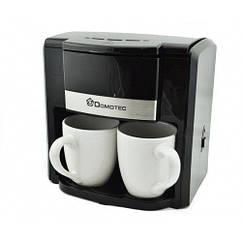 Капельная кофеварка на две чашки Domotec MS-0708 c 2 керамическими чашками