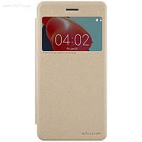 Чехол Nillkin Sparkle Leather Case для Nokia 6 Shampaign Gold