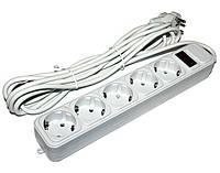 Фильтр сетевой 4,5 м Gembird SPG5-G-15G 5 розеток, серый