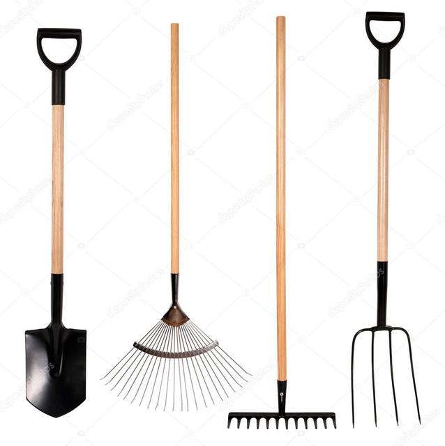 Грабли, лопаты