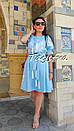 Платье голубое вышитое бохо вышиванка лен, этно, стиль бохо шик, вишите плаття вишиванка, Bohemian, фото 5