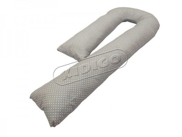 Подушка для вагітних та годування KIDIGO J-подібна Горошок (з наволочкою)