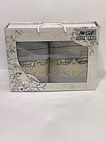 Набор Турецких махровых полотенец Банное 70*140 + Лицевое 50*90 Moz