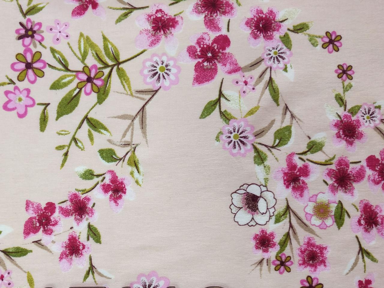 Бенгалин рисунок цветочная нежность, персиковый