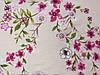 Ткань бенгалин рисунок цветочная нежность, персиковый