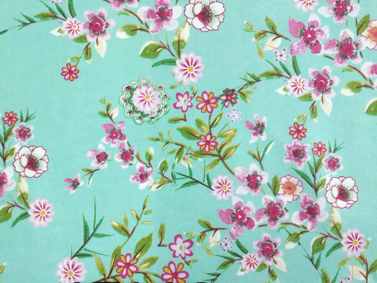 Бенгалин рисунок цветочная нежность, ментол