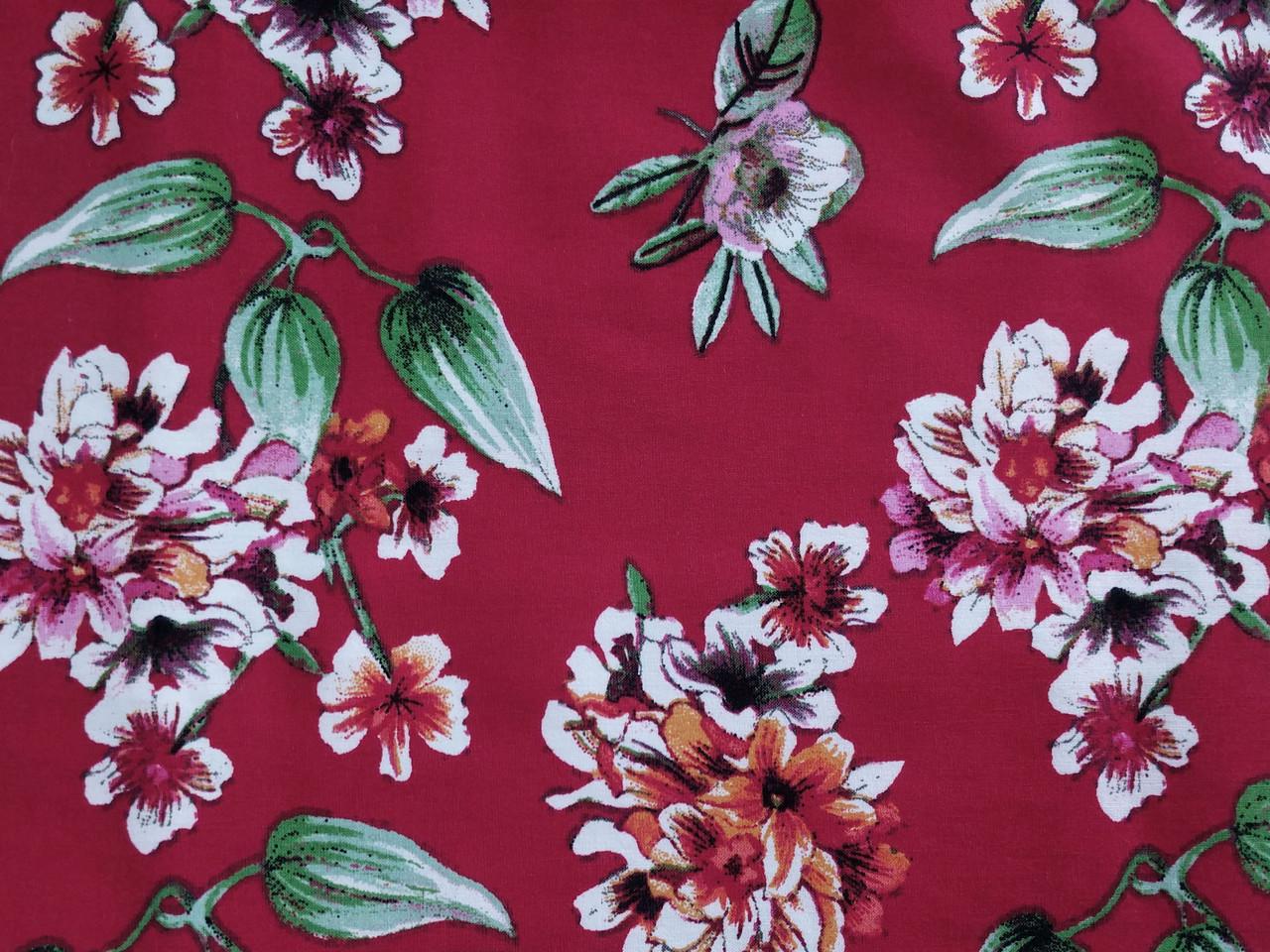 Бенгалин рисунок цветочная сказка, красный