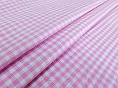 Коттон клеточка 3 мм, розовый