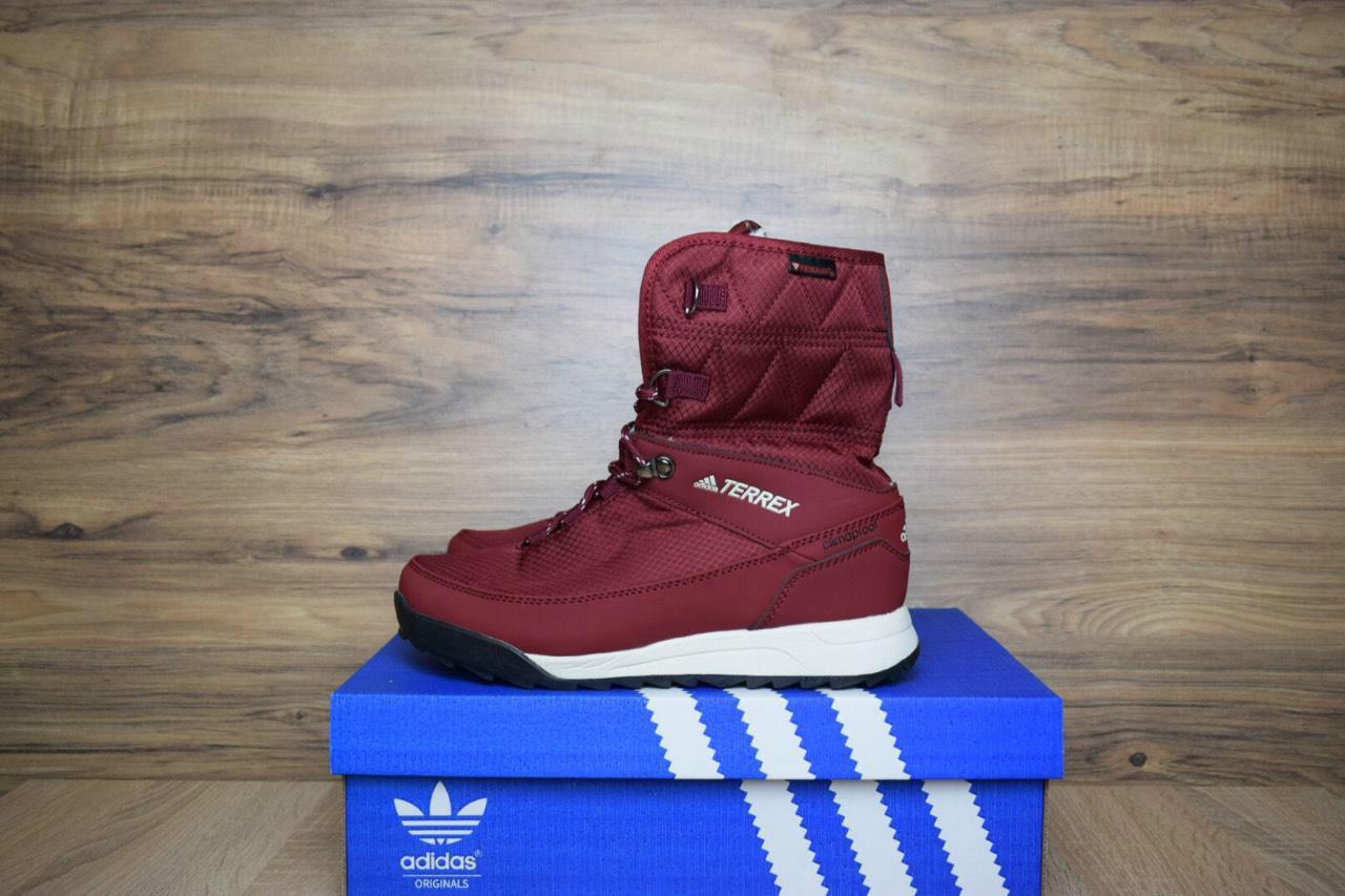 Кроссовки в стиле Adidas Terrex 2 бордовые
